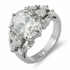 Oval Pear Cubic Zirconia Engagement Bridal Wedding Ring Sterling 925 Silver Sz 5
