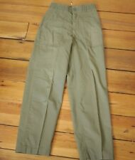 Vintage US Military OD Green Sturdy Utility Durable Press Work Pants 28 x 33