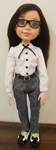 BFC Ink Doll Clothes. Handmade Blouse, Pant, Bow Tie and Belt