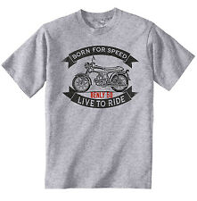 HONDA BENLY 50 - NEW COTTON GREY TSHIRT - ALL SIZES IN STOCK