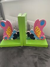 Childs Wooden Butterfly Reading Book Ends