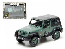 2012 JEEP WRANGLER U.S. ARMY HARD TOP DARK GREEN IN CASE 1/43 GREENLIGHT 86043