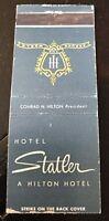 Matchbook Cover Hotel Statler A Hilton Hotel