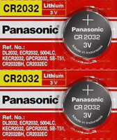 2 x SUPER FRESH Panasonic ECR2032 CR2032 Lithium Battery 3V Coin Cell Exp. 2030