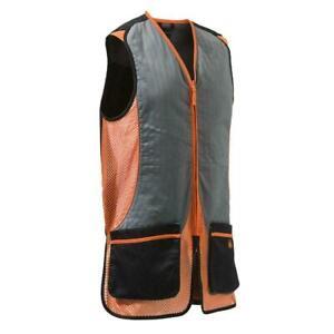 Beretta Silver Pigeon Shooting Vest Skeet Black & Orange Trap Clays GT031-0945