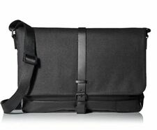 Calvin Klein Men's Coated Canvas Messenger Bag Color:Black One Size Nwt