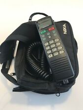 Vintage Nokia Mobile Bag Phone Model C250 Cellphone With Case Powers On