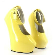 Unisex SM Ankle Strap Fetish Wedge Hoof Heelless Crossdresser Nightclub Costumes