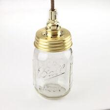 Vintage Lampen-Set, m. Mason Ball Einmachglas, E14, Zugentl. messing o.Kabel