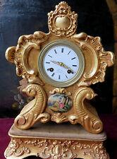100907 Orologio in legno dorato. Francia, I^ metà dell'Ottocento