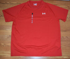 NWT Mens UNDER ARMOUR HeatGear SS Loose Fit Tee Shirt Red Size L Large