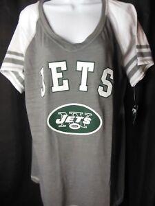 New York Jets Women's Soft As A Grape Swoop Neck Tee Shirt 2XL Plus Size