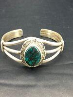 Navajo Indian Spider Web Turquoise Sterling Silver Bracelet Signed Set 5 2650