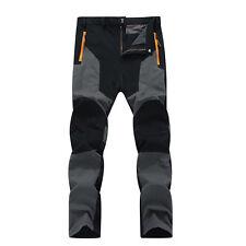 Mens Outdoor Travel Ski Pants *Fleece Padded Windproof Waterproof L~4XL Trousers