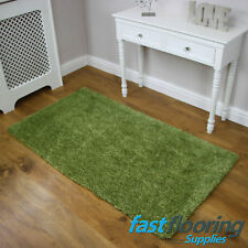 Plaza Major Soft Green Rug *0.80 x 1.50* Polyester Lounge Soft Shaggy *RRP £75*