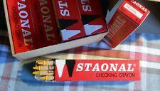 "Box of 12 Yellow * Staonal Binney & Smith #1 Checking Crayon 6"" Long *vintage"