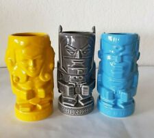 Hallmark DC Comics BATMAN Crusader SUPERMAN Steel WONDER WOMAN Tiki Mug SET of 3