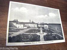Cartolina Postcard Sabbioneta Mantova Piazza Vittorio Emanuele e giardino 1950