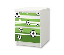 """""""Fußball"""" Möbelsticker / Aufkleber für die Kommode MALM von IKEA - NS14"""