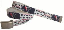 Houston Texans BELT & Buckle Football Team Apparel Fan Game Gear Pro NFL Shop TX