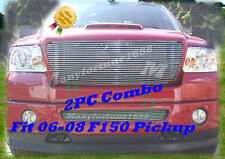 06 07 08 2007 2008 Ford F-150 F150 Billet Grille Combo