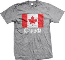 Canada Distress Flag Canadian World Cup Nationality Ethnic Pride-Mens T-shirt