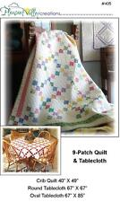 9-Patch Baby Quilt & 2 sizes for Tablecloth PATTERN ~ crib~ FAST & EASY- #405