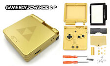 Full Kit complet coque Zelda Triforce Or GBA SP Game Boy Advance SP Case Shell