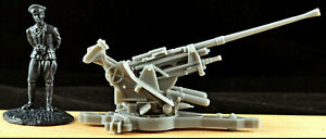 BMC WWII German 37mm Cannon - 54mm plastic (figure for scale)