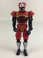 "Power Rangers Super Ninja Steel Lion Fire Armor 5"" Action Figure Bandai 2017"