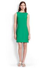 Lands' End Elm Green Italian Stretch Mini Shift Social Casual Dress 2 $125