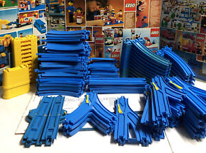 Thomas the Train Trackmaster TOMY Lot of 163 Blue Tracks Switches Curves Post