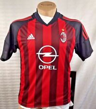 ADIDAS CLIMALITE AC MILAN JERSEY AUTHENTIC MADE IN ITALY OPEL ACM MENS SMALL