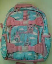 Pottery Barn Kids Small Mackenzie Blue Pink Castles Fairy Tale Backpack MAKAYLA