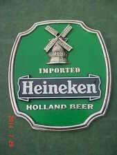Vintage Heineken Imported Holland Beer Sign Bar Man Cave College Dorm Room Decor