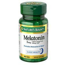 Nature's Bounty Melatonin 1 mg Tablets 180 Tablets