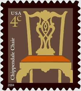 MINT Sheet of 20 CHIPPENDALE CHAIR STAMPS: Early American, 1760-1765, Americana
