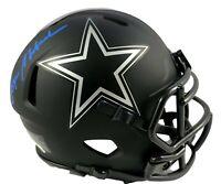 Roger Staubach Hand Signed Eclipse Black Mini Helmet Dallas Cowboys JSA COA