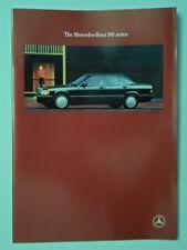 MERCEDES BENZ 190 SERIES 1989 UK Mkt Prestige Sales Brochure + Spec Sheets