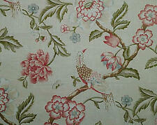 Trend Bird and Floral  Home Decor Drapery Fabric  1 yard  x 54