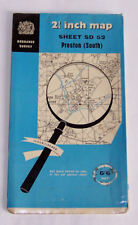 OS Map SD52 - Preston (South) Lancs – 1968 - ½ inch scale – unmarked condition
