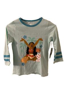 Disney Moana Pua Movie 9/10 Girls Teal Shirt NWT New KIds Children Blue Seafoam