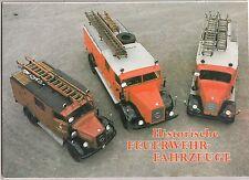 DDR Mappe Historische Feuerwehr Fahrzeuge DEWAG 1989 Bildermappe Oldtimer !