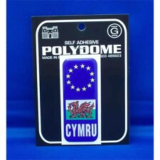 Cymru Euro Plate Polydome Sticker - Suction Cup Diamond Sign Pink Bump Board