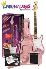 Darling Divas Electric Guitar Package  includes amp and case  Bubble Gum Pink