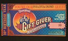 "New Listing1985 Disneyland ""Gift-Giver"" Prize Winning Ticket - Disneyana Theme Park"