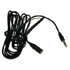 Gold Plated Headphone Extension Cable 3.5 BLACK 1m