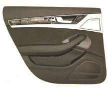 AUDI A8 4h Paneles de puerta trasero izquierdo ILUMINADO ALCANTARA Negro