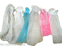 3x BARBIE SINDY DOLL'S CLOTHING WEDDING DRESS VEILS MIXED COLOURS FREE UK P&P