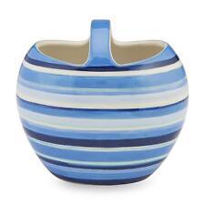 Essential Home Ceramic Toothbrush Holder -  Stripe Blue